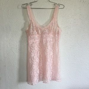 Other - Y2K baby pink lace teddy lingerie nightie